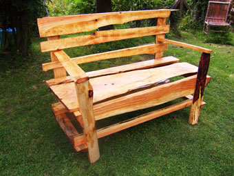 Groovy Douglas Fir Bench Rustic Revolution Machost Co Dining Chair Design Ideas Machostcouk